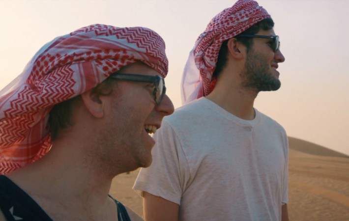 Nick Hook (l.) and Baauer on the look out for exotic sounds (Soucre:)