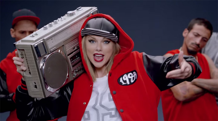Taylor Swift pulled her entire catalogue from Spotify (Screenshot: Shake it off video)