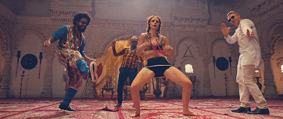 Major Lazer and MØ are getting their traditional Indian dance on in the video for Lean On