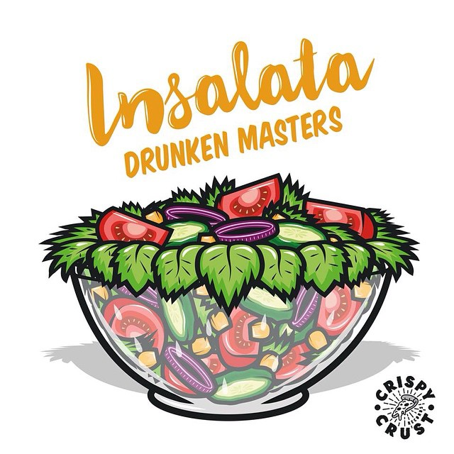 Insalata, the new Drunken Masters single, drops on May 1st on Crispy Crust Records