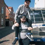 It's good to have a friend on whose shoulders you can lean on – or sit on – when times get a little rough, like for example on Crispy Crust Records tour