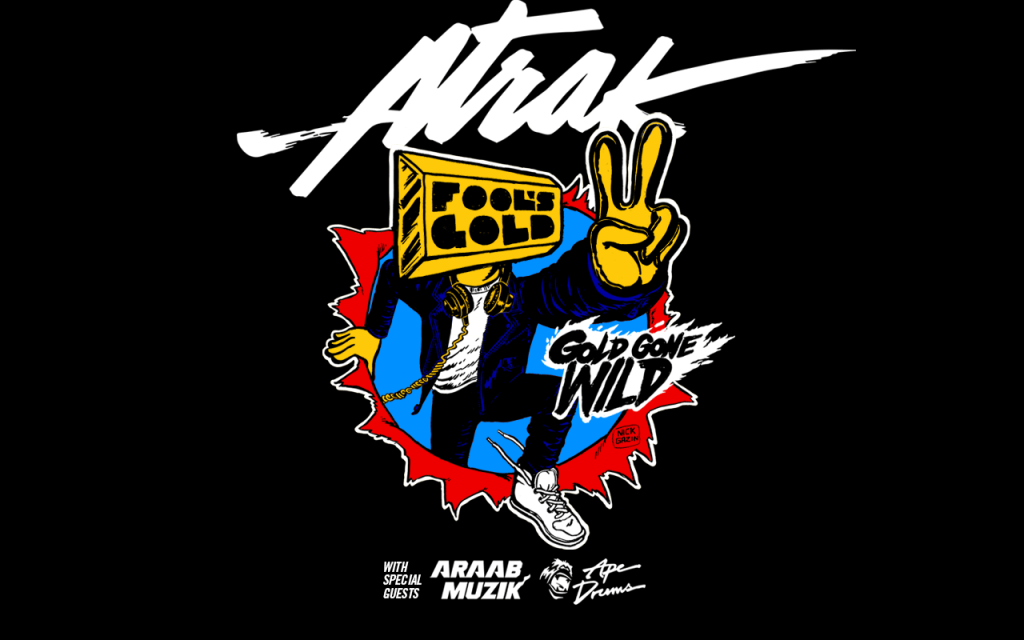 A-Track, AraabMuzic & Ape Drums go on tour together: Gold Gone Wild