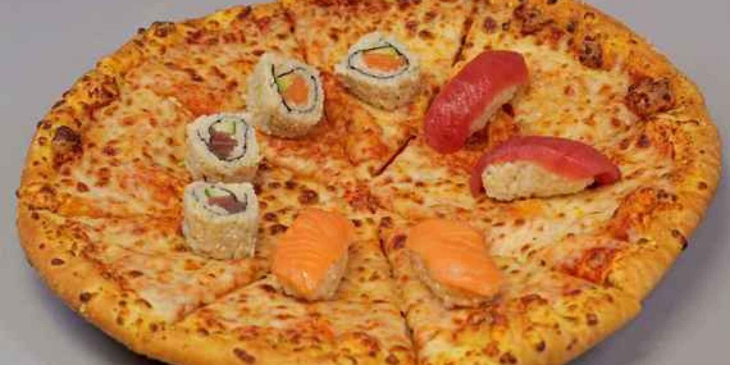 Sushi and pizza. What a combination